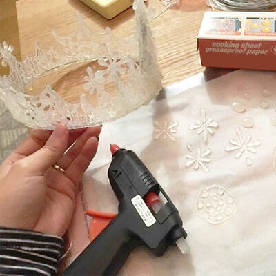 Hot Melt Glue Gun ~ 60 Mini Clear Glue Sticks for Arts Craft UL LISTED Black