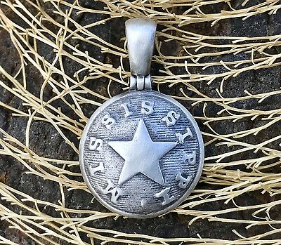 .925 Silver Confederate Local MISSISSIPPI (MP5A) Button Civil War Relic Pendant