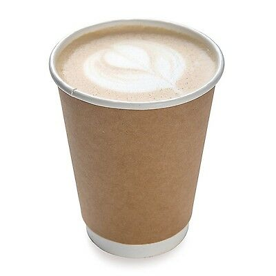 Restaurantware 500-Count Disposable Double Wall Coffee and Tea Cup 12-Ounce K...