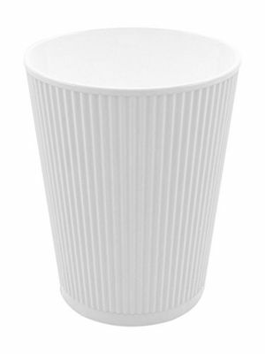 Restaurantware 500-Count Disposable Ripple Wall Coffee and Tea Cup 8-Ounce Wh...