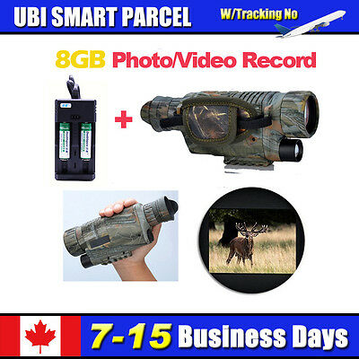 4GB Monocular Night Vision Goggles Security Cameras+2xBattery Free Ship