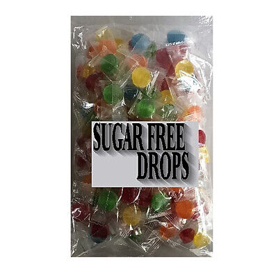 500g SUGAR FREE FRUIT DROPS Johnsons Lollies Party Favors Bag Candy Buffet Bulk