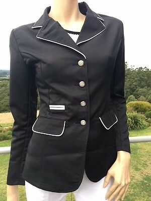 Ladies Riding Jacket Competition Black Show Jacket Sizes 8-18 *small sizing