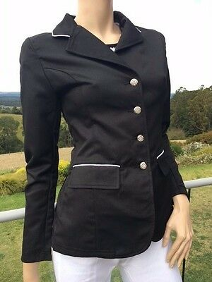Ladies Black Riding Jacket  Black Hunter Jacket Sizes 8-18 *small sizing*