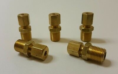 "Pack of 5. 1/8"" Male NPT x 1/8"" OD Tube Compression Fitting."