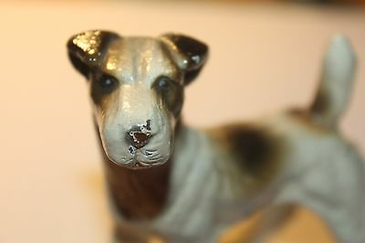 Vintage fox terrier dog jack russell figurine cast iron? 1930s?