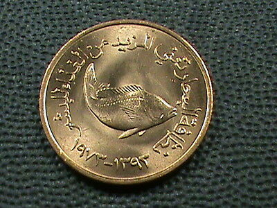 UNITED  ARAB  EMIRATES    5  Fils   1973     BRILLIANT  UNCIRCULATED