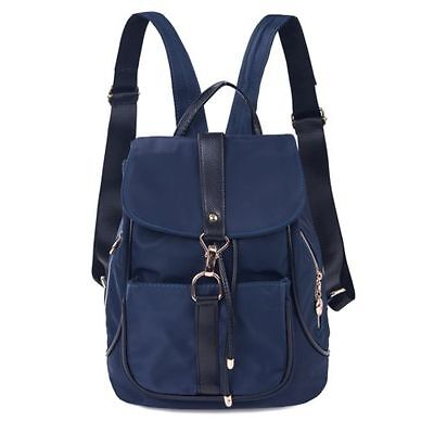 Women Backpacks Hiking Satchel School Rucksack Shoulder Bags Bookbags Blue