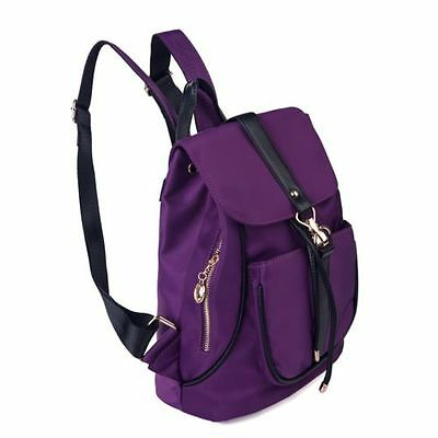 Women Backpacks Hiking Satchel School Rucksack Travel Handbag Bookbags Purple