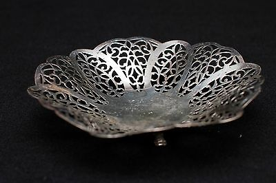 Vintage International Silver Company Lovelace Footed Candy Nut Dish Bowl 1428