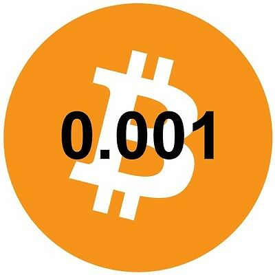 Bitcoin 0.001 (Btc) - Direct To Your Bitcoin Wallet Address