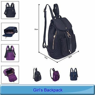 Women Backpacks Hiking Satchel School Rucksack Shoulder Bags Bookbags Black