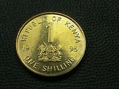KENYA    1  Shilling    1995    BRILLIANT  UNCIRCULATED