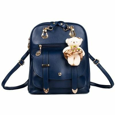 Women's Lady Leather Backpack School Rucksack Shoulder Bag Satchel Travel Bag