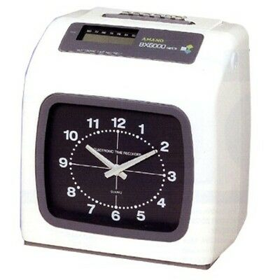 Amano BX6000 Series Electronic Time Recorder Time Clock w/ Key and Manual NEW