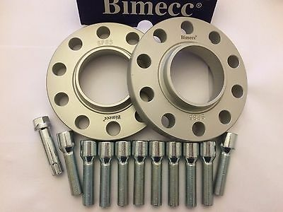 17mm BIMECC SILVER HUB CENTRIC SPACERS + 10 TUNER BOLTS FITS AUDI 4 M14X1.5 571