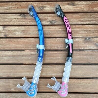 Cressi Alpha Ultra-Dry Snorkel in Blue, Pink/Black