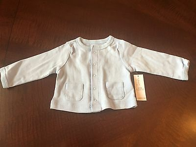 NWT Old Navy Baby Boy blue button up shirt top, size 0-3 months