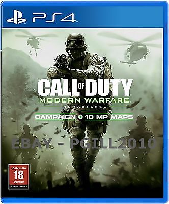 Call Of Duty - Modern Warfare Remastered Dlc Code (Ps4 And Uk/eu Region Only)