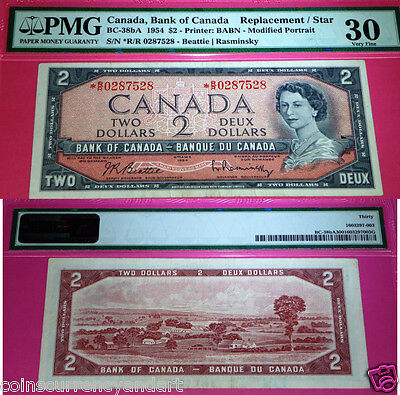 1954 Bank Of Canada  *r/r Replacement / Star  $2  Pmg Certified