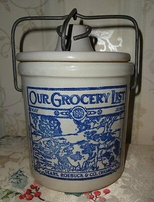 "Vntg Advertising 1981 Crock ""our Grocery List"" - Sears Roebuck & Co. Chicago"