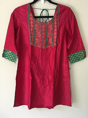 Indian Ethnic Red Green Small Bollywood Party Wear Suit Salwar
