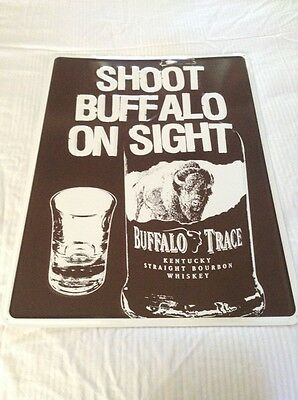 New Buffalo Trace Kentucky Bourbon Whiskey Metal Tin Picture Bar Wall Sign 2FT c