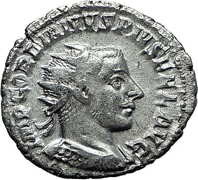 GORDIAN III 243AD Authentic Genuine Ancient Silver Roman Coin Fortuna i60381