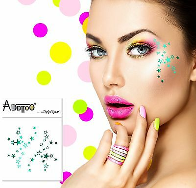 ADDTTOO® Temporary Metallic Make Up Foil Tattoo Party Eyes Shooting Stars