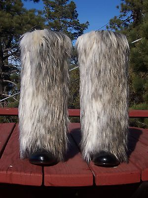 NEW Dynamite Faux Fur Leg Muffs boot-covers leggings warmers brown womens mens