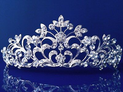SparklyCrystal Bridal Floral Rhinestone Crystal Prom Wedding Crown Tiara 1251