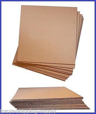 100 Pack Corrugated Cardboard Pad Insert Sheet Divider (Small, Med.) - 17 Sizes