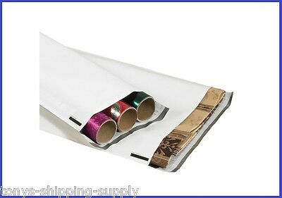 """50 Pack - 45"""" Long Poly Mailer Plastic Envelope Bag 4 Mil - 2 Widths Available"""