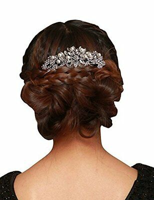 Women Fashion Wedding Bridal Hair Comb Pearl and Crystal