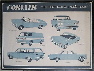 Chevrolet Dealer Show Room Poster 1960-1964 Corvair The First Edition