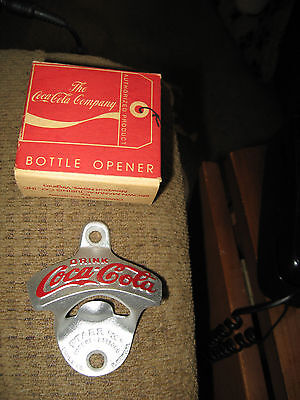Vintage NOS Coca Cola STARR X Wall Mount Bottle Cap Opener In Box