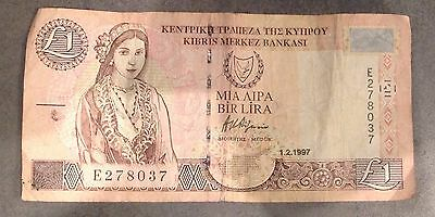Cyprus One Pound Banknote
