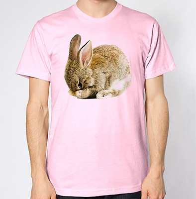 Rabbit Hiding T-Shirt Cute Animal Top Bunny