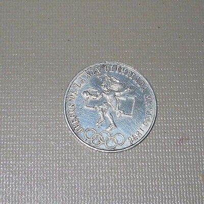1968 Mexico 25 Pesos Large Silver Mexican Olympics Coin