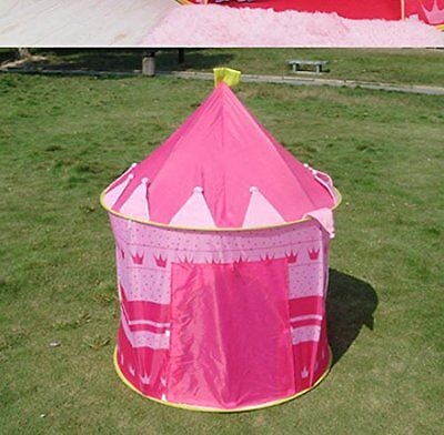 Portable Folding Childrens Pink Play Tent Castle Cubby Play House