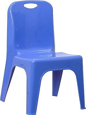 Flash Furniture YU-YCX-011-BLUE-GG Blue Plastic Stackable School Chair with C...