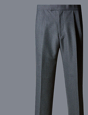 Mens Classic Grey Striped Morning Trousers for weddings or Royal Ascot
