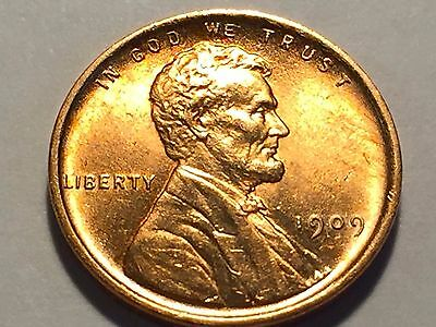 1909-P Lincoln Cent *  Gem BU Red #2  *