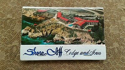 Shore Cliff Lodge and Inn Matchbook Pismo Beach California 5 matches missing