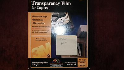 NEW 3M Transparency Film PP2500 for High Temperature Copiers 80 Sheets 8.5 x 11