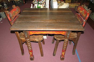 MONTEREY PAINTED KITCHENETTE DINING TABLE w/2 CHAIRS MASON MONTEREY TABLE CHAIRS