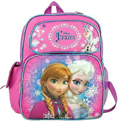 """Frozen Small Toddler 12"""" Cloth Backpack Book Bag Pack - Purple/Pink"""