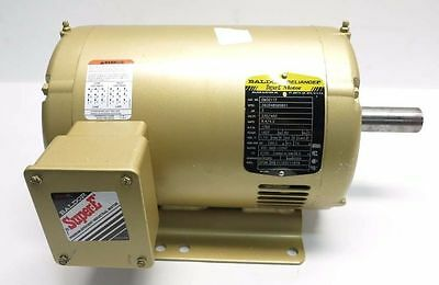Baldor Part # EM3211T Super-E Electric Motor 3 Hp 1765 RPM 230/460V