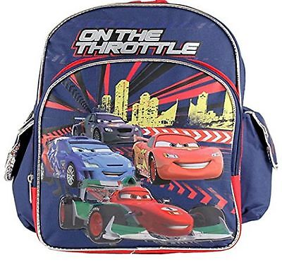 "Cars Small Toddler 12"" Cloth Backpack Book Bag Pack - Blue"