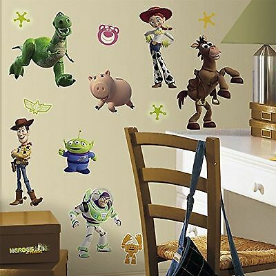 RoomMates RMK1428SCS Toy Story  Peel & Stick Wall Decals Glo-in Dark 34 Count
